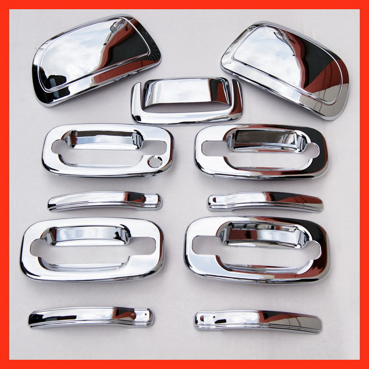 00-06 TAHOE GMC YUKON CHROME DOOR HANDLE MIRROR COVERS