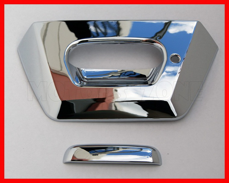 02 06 Chevy Avalanche Chrome Tailgate Handle Cover 05