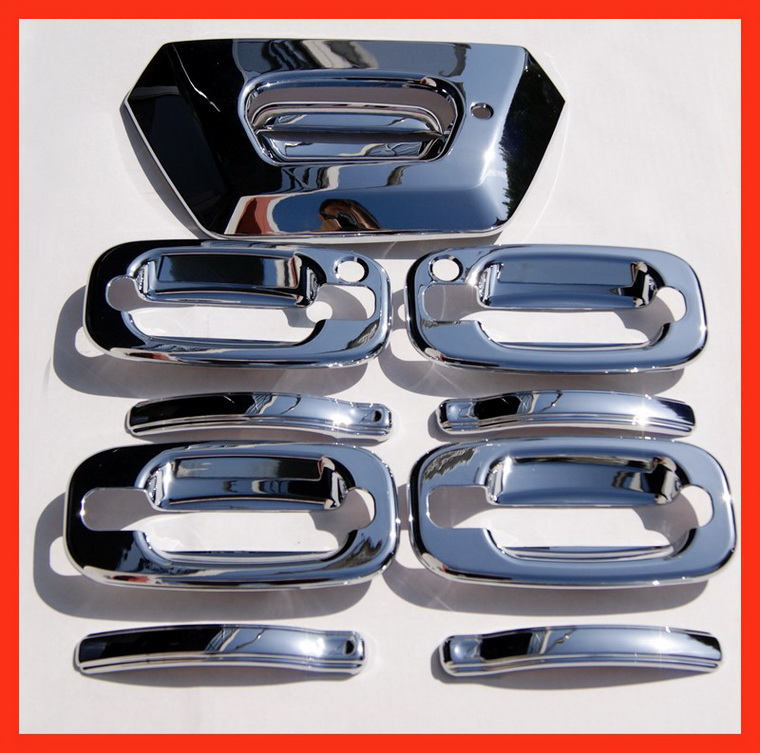 02-06 Chevy Avalanche Chrome Door Handle Covers Caps 05