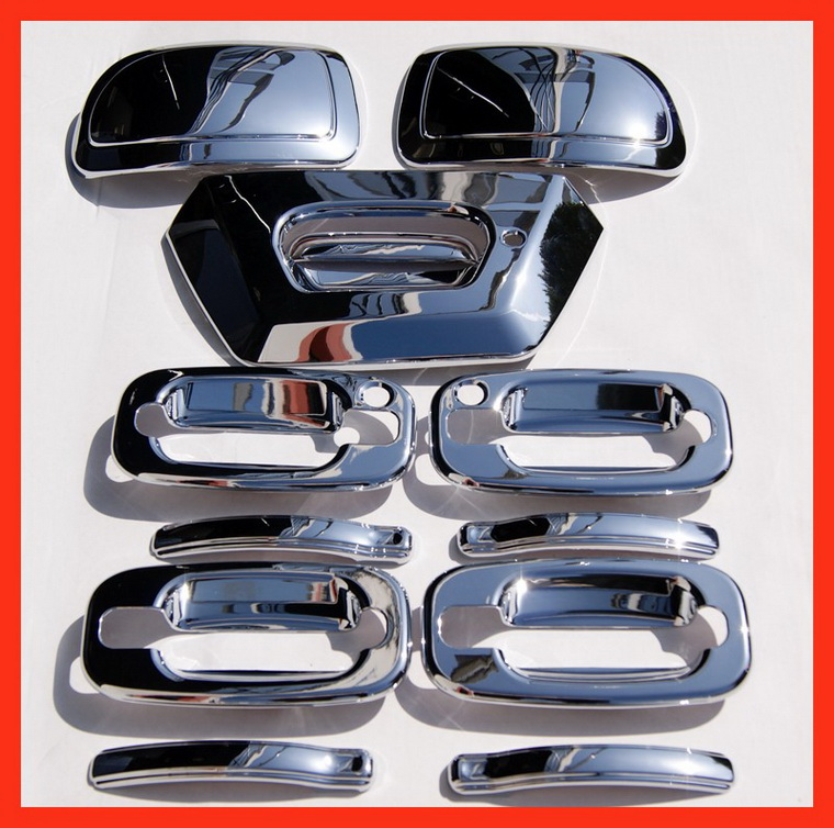 02-06 Chevy Avalanche Chrome Mirror Handle Covers Caps