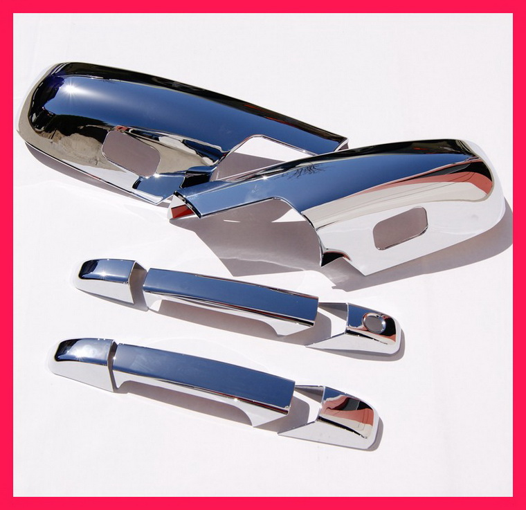 07-10 Silverado Sierra Chrome Door Handle Mirror Covers