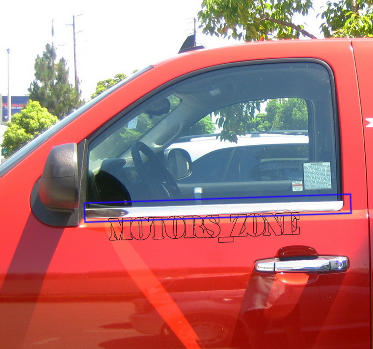 04-10 NISSAN TITAN KING CAB CHROME WINDOW SILL TRIM 09